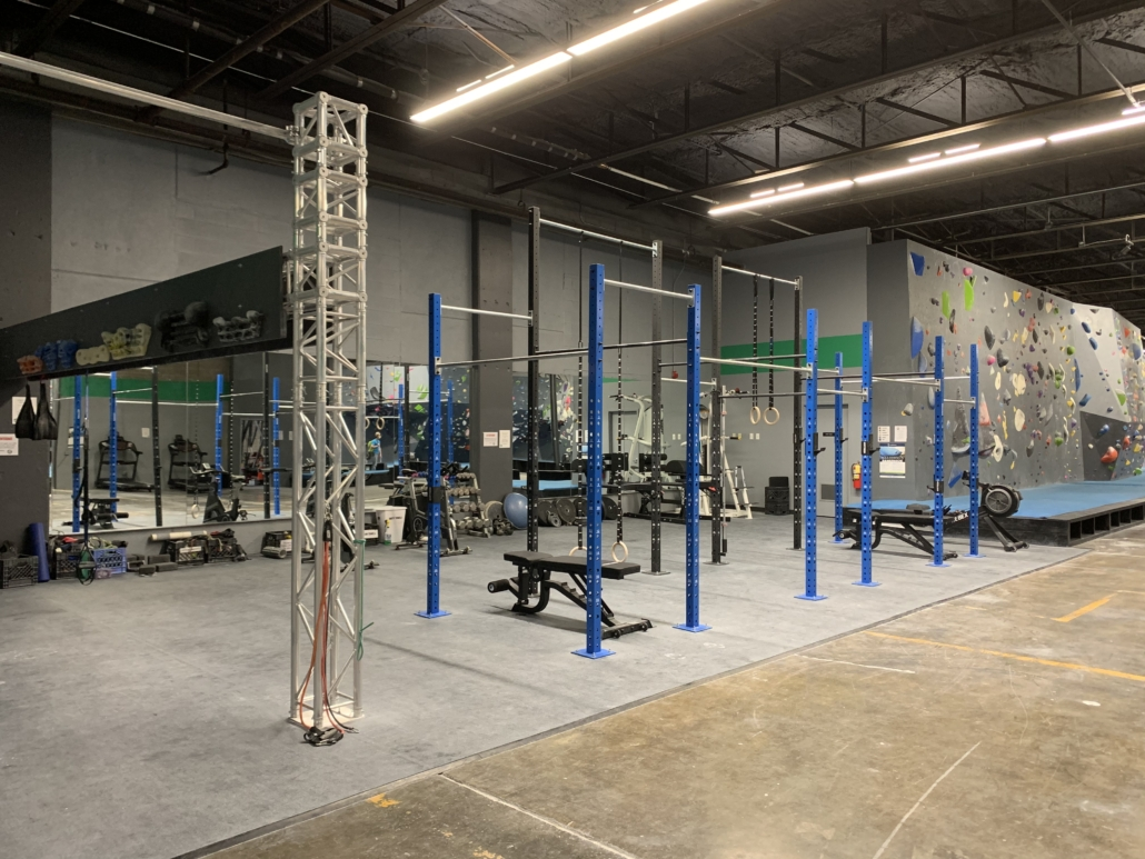 Fitness Area with Rig and Pull-up Station